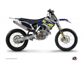 Husqvarna TC 250 Dirt Bike Predator Graphic Kit Purple Yellow