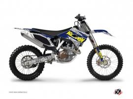 Kit Déco Moto Cross Predator Husqvarna TC 250 Violet Jaune