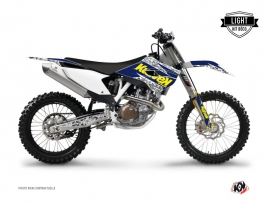 Kit Déco Moto Cross Predator Husqvarna TC 250 Violet Jaune LIGHT
