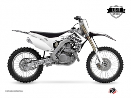 Honda 250 CRF Dirt Bike Predator Graphic Kit White LIGHT