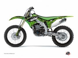 Kit Déco Moto Cross Predator Kawasaki 250 KX Noir Vert