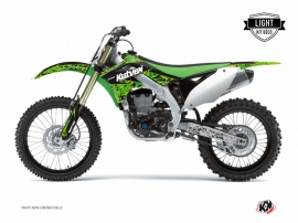 Kit Déco Moto Cross Predator Kawasaki 250 KXF Noir Vert LIGHT