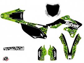 Kit Déco Moto Cross Predator Kawasaki 250 KXF Noir Vert