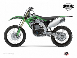Kawasaki 250 KXF Dirt Bike Predator Graphic Kit Green LIGHT