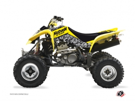 Suzuki 250 LTZ ATV Predator Graphic Kit Yellow