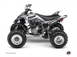 Yamaha 250 Raptor ATV Predator Graphic Kit White