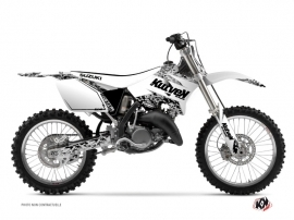 Kit Déco Moto Cross Predator Suzuki 250 RM Blanc