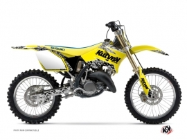 Suzuki 250 RM Dirt Bike Predator Graphic Kit Yellow