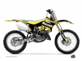Suzuki 250 RM Dirt Bike Predator Graphic Kit Black Yellow