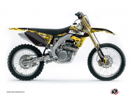 Suzuki 250 RMZ Dirt Bike Predator Graphic Kit Black Yellow