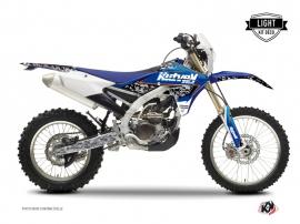 Kit Déco Moto Cross Predator Yamaha 250 WRF Noir Bleu LIGHT