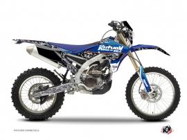 Kit Déco Moto Cross Predator Yamaha 250 WRF Noir Bleu