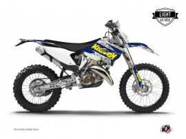 Husqvarna 300 TE Dirt Bike Predator Graphic Kit Purple Yellow LIGHT