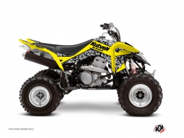 Suzuki 400 LTZ IE ATV Predator Graphic Kit Yellow