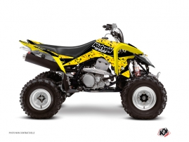 Suzuki 400 LTZ IE ATV Predator Graphic Kit Black Yellow