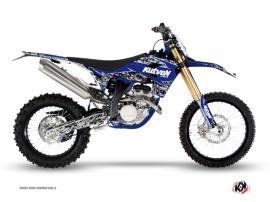 Kit Déco Moto Cross Predator Sherco 450 SEF R Noir Bleu