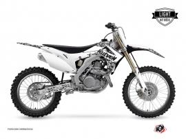 Kit Déco Moto Cross PREDATOR Honda 450 CRF Blanc LIGHT