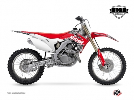 Honda 450 CRF Dirt Bike Predator Graphic Kit Black Red LIGHT