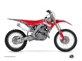 Kit Déco Moto Cross Predator Honda 450 CRF Noir Rouge