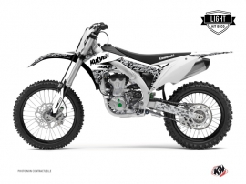 Kit Déco Moto Cross Predator Kawasaki 450 KXF Blanc LIGHT