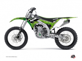 Kawasaki 450 KXF Dirt Bike Predator Graphic Kit Black Green