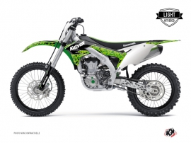 Kit Déco Moto Cross Predator Kawasaki 450 KXF Noir Vert LIGHT