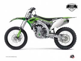 Kit Déco Moto Cross Predator Kawasaki 450 KXF Vert LIGHT