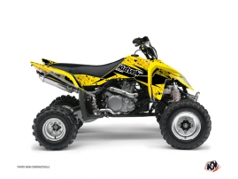 Suzuki 450 LTR ATV Predator Graphic Kit Black Yellow