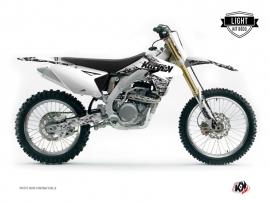 Kit Déco Moto Cross PREDATOR Suzuki 450 RMZ Blanc LIGHT