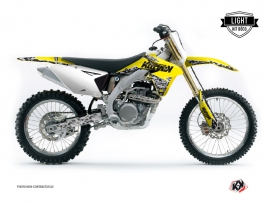 Suzuki 450 RMZ Dirt Bike Predator Graphic Kit Yellow LIGHT