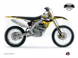 Kit Déco Moto Cross Predator Suzuki 450 RMZ Noir Jaune LIGHT