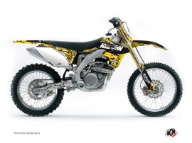 Suzuki 450 RMZ Dirt Bike Predator Graphic Kit Black Yellow