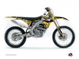 Kit Déco Moto Cross Predator Suzuki 450 RMZ Noir Jaune