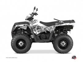 Polaris 450 Sportsman ATV Predator Graphic Kit White