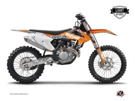 Kit Déco Moto Cross PREDATOR KTM 450 SXF Orange LIGHT