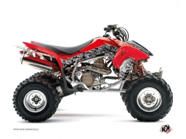 Honda 450 TRX ATV Predator Graphic Kit Black Red