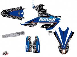Yamaha 450 WRF Dirt Bike Predator Graphic Kit Black Blue LIGHT