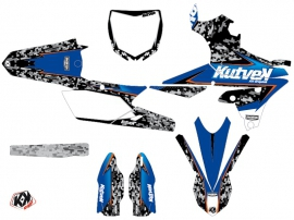 Kit Déco Moto Cross Predator Yamaha 450 YZF Noir Bleu