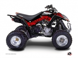 Kymco 90 MAXXER ATV Predator Graphic Kit Red Black