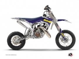 Kit Déco Moto Cross Predator Husqvarna TC 50 Violet Jaune