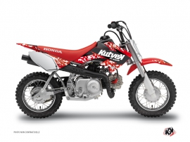 Honda 50 CRF Dirt Bike Predator Graphic Kit Red
