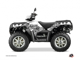 Kit Déco Quad Predator Polaris 550-850-1000 Sportsman Forest Blanc