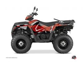 Polaris 570 Sportsman Touring ATV Predator Graphic Kit Red Black