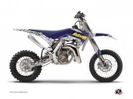 Kit Déco Moto Cross Predator Husqvarna TC 65 Violet Jaune