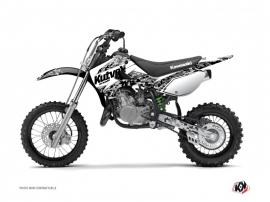 Kit Déco Moto Cross Predator Kawasaki 65 KX Blanc