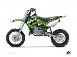 Kit Déco Moto Cross Predator Kawasaki 65 KX Noir Vert