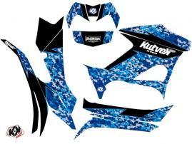 Yamaha 700-708 Grizzly ATV Predator Graphic Kit Blue