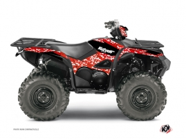 Yamaha 700-708 Grizzly ATV Predator Graphic Kit Red
