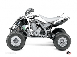 Yamaha 700 Raptor ATV Predator Graphic Kit White