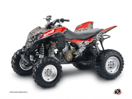 Honda 700 TRX ATV Predator Graphic Kit Black Red